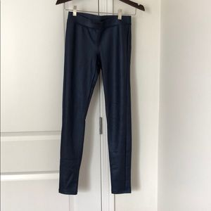 Express Blue Leather Skinny Pants
